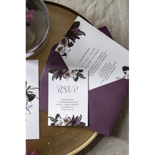 Tropikalne kwiaty czyli zaproszenia ślubne z rsvp
