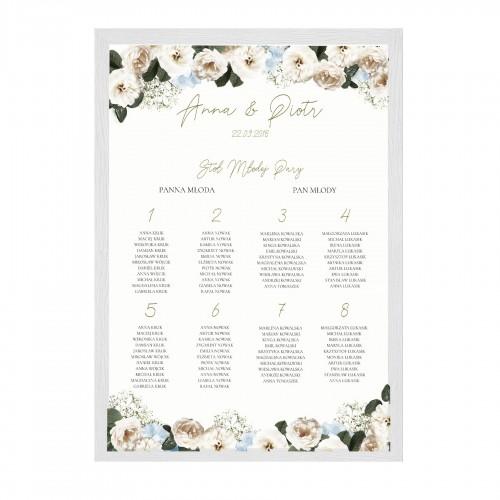Angielska róża piękny plan stołów