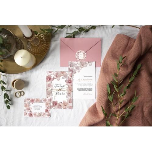 Kolkwicja letnie kwiaty na naszych zaproszeniach na ślub