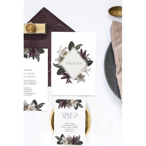 Bridartis Tropikalne zaproszenia ślubne w formie kart